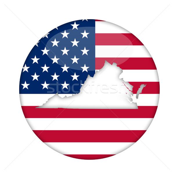 Virginie Amérique badge isolé blanche affaires Photo stock © speedfighter