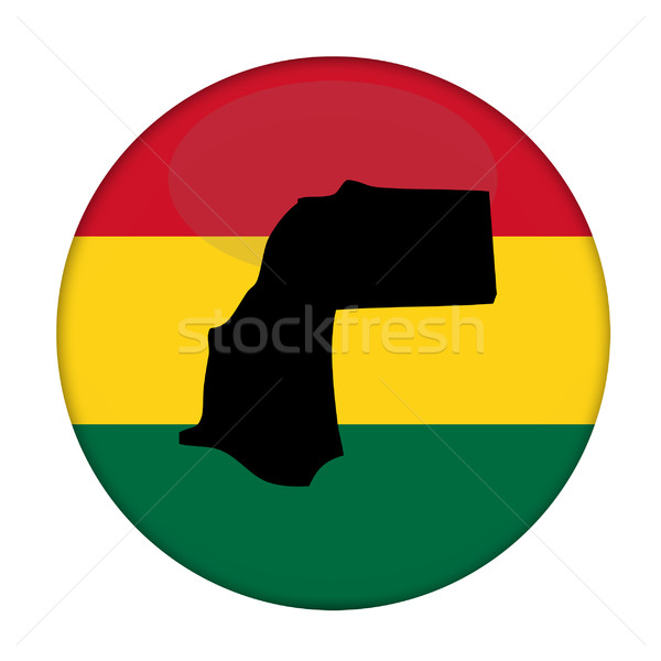 Western Sahara map on a Rastafarian flag button Stock photo © speedfighter