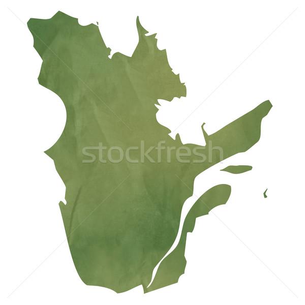 Quebec kaart groene papier Canada oude Stockfoto © speedfighter