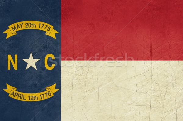 Foto stock: Grunge · norte · bandeira · ilustração · Carolina · do · Norte · Estados · Unidos