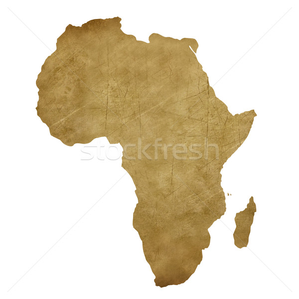 Африка Гранж Карта сокровищ карта сокровище стиль Сток-фото © speedfighter