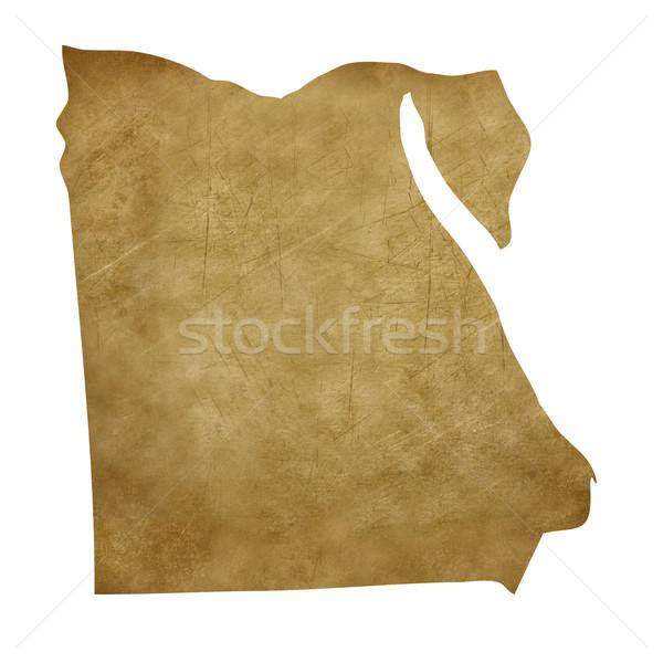 Egypt grunge treasure map Stock photo © speedfighter