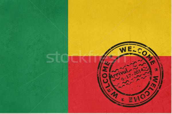 приветствую Бенин флаг паспорта штампа путешествия Сток-фото © speedfighter