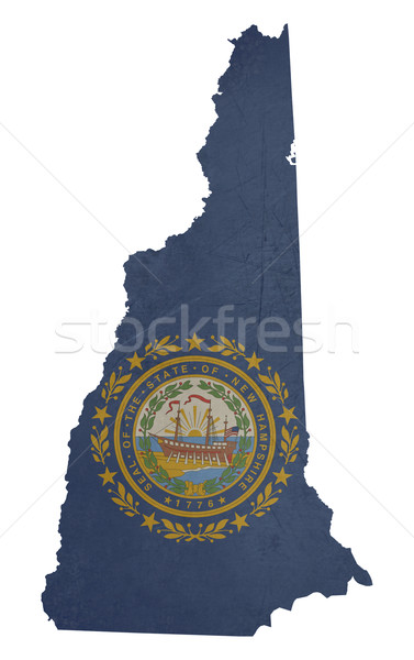 Grunge New Hampshire bandera mapa aislado blanco Foto stock © speedfighter