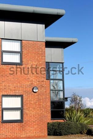 Moderne kantoorgebouwen zijaanzicht kantoorgebouw business park Stockfoto © speedfighter