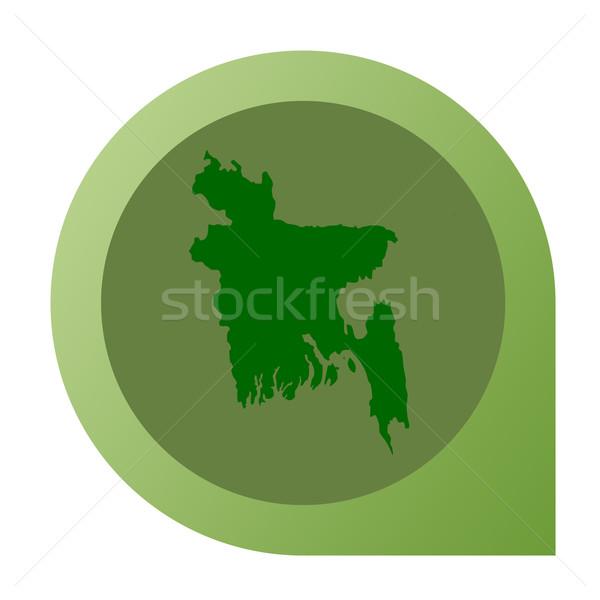 Izolált Banglades térkép jelző tő web design Stock fotó © speedfighter