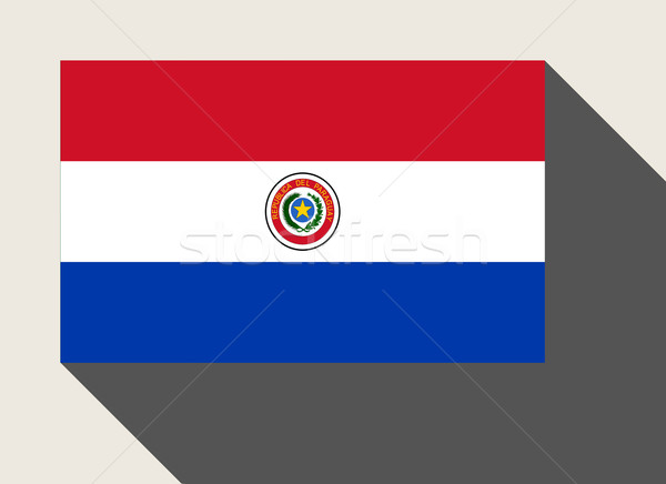 Paragwaj banderą web design stylu przycisk Zdjęcia stock © speedfighter