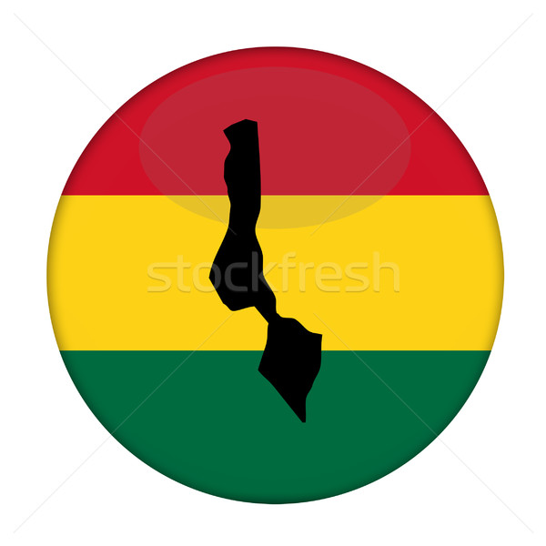 Malawi map on a Rastafarian flag button Stock photo © speedfighter