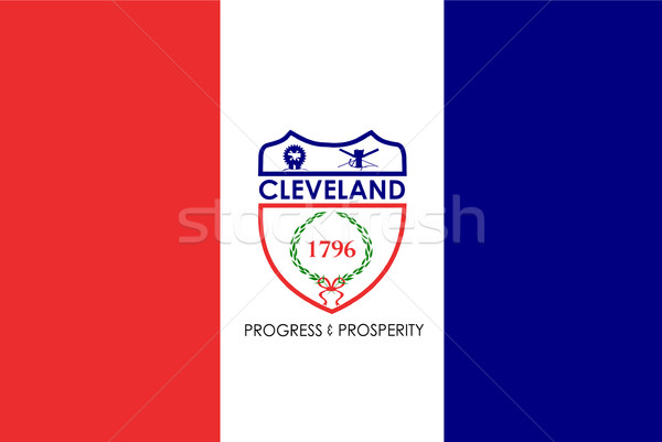 Cleveland city flag Stock photo © speedfighter
