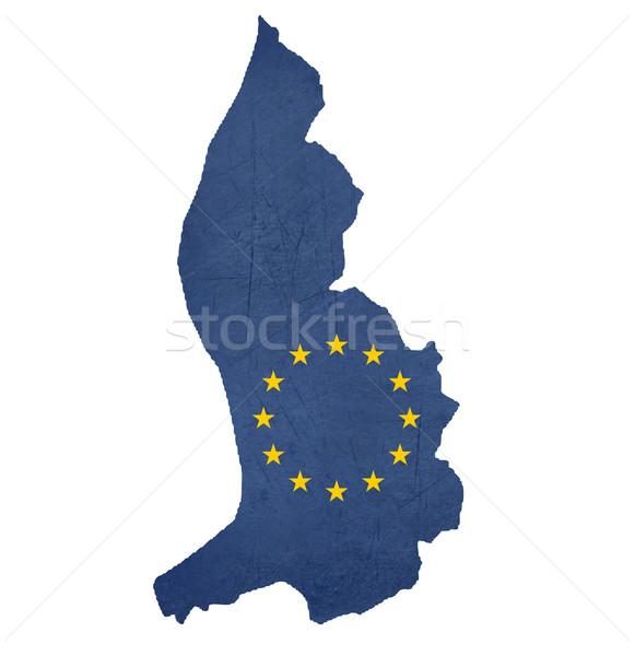 European flag map of Liechtenstein Stock photo © speedfighter