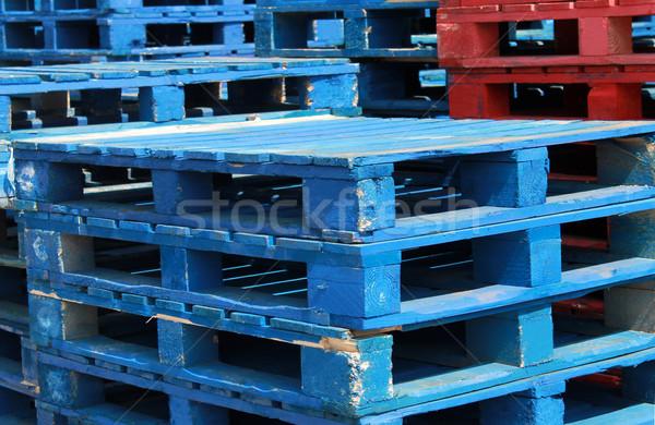 Stacks of pallet crates Stock photo © speedfighter