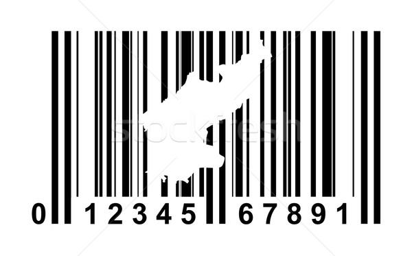 Noorden streepjescode winkelen geïsoleerd witte business Stockfoto © speedfighter