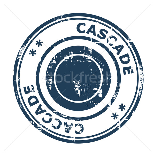 Cascade concept stamp Stock photo © speedfighter