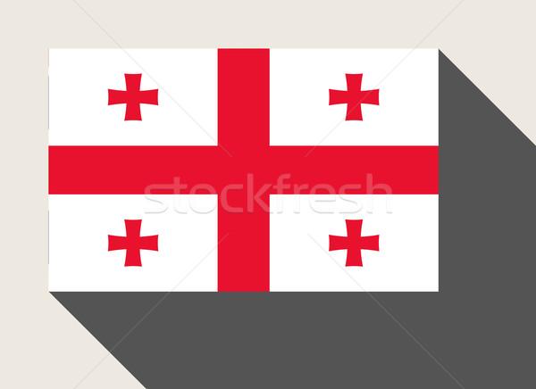 Geórgia bandeira web design estilo mapa botão Foto stock © speedfighter