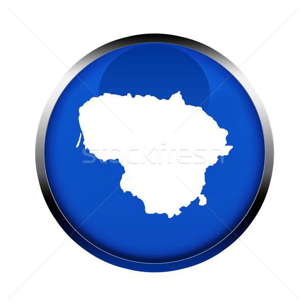 Litvánia térkép gomb színek európai szövetség Stock fotó © speedfighter