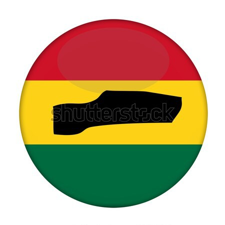 Gambia map on a Rastafarian flag button Stock photo © speedfighter