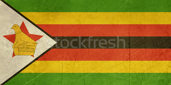 Grunge Zimbabwe pavillon pays officielle couleurs Photo stock © speedfighter