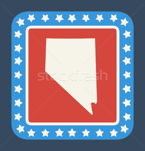 Nevada gomb amerikai zászló web design stílus izolált Stock fotó © speedfighter