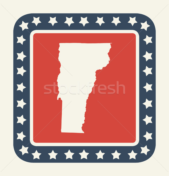 Vermont americano botão bandeira americana web design estilo Foto stock © speedfighter