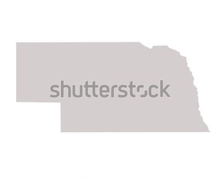 Nebraska térkép izolált fehér USA Amerika Stock fotó © speedfighter