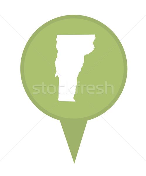 Vermont harita pin amerikan işaretleyici yalıtılmış Stok fotoğraf © speedfighter