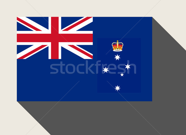 Australian state of Victoria flag Stock photo © speedfighter