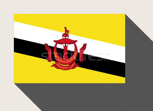 Brunei zászló web design stílus gomb Stock fotó © speedfighter