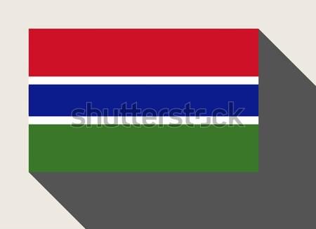 ガンビア フラグ Webデザイン スタイル 地図 ボタン ストックフォト © speedfighter