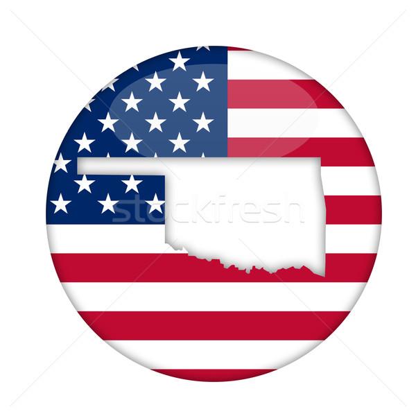 Oklahoma Amérique badge isolé blanche affaires Photo stock © speedfighter