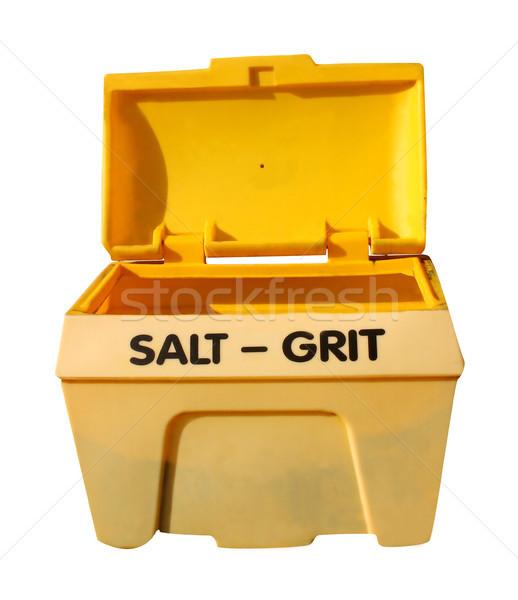 Salt grit bin Stock photo © speedfighter