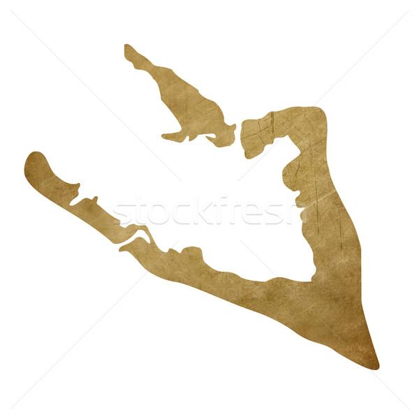 Grunge Wake Island treasure map Stock photo © speedfighter