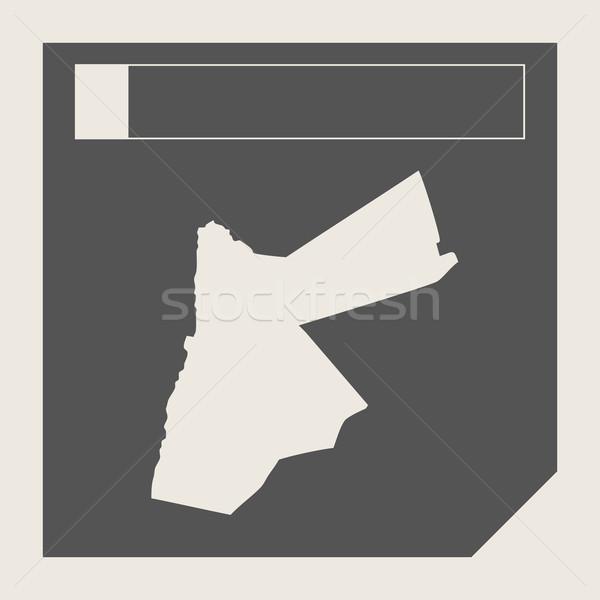 Jordanië kaart knop sympathiek web design geïsoleerd Stockfoto © speedfighter