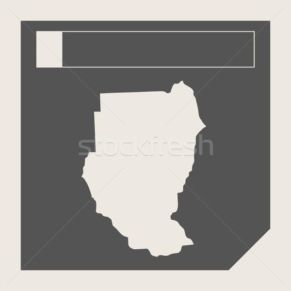 Szudán térkép gomb reszponzív web design izolált Stock fotó © speedfighter