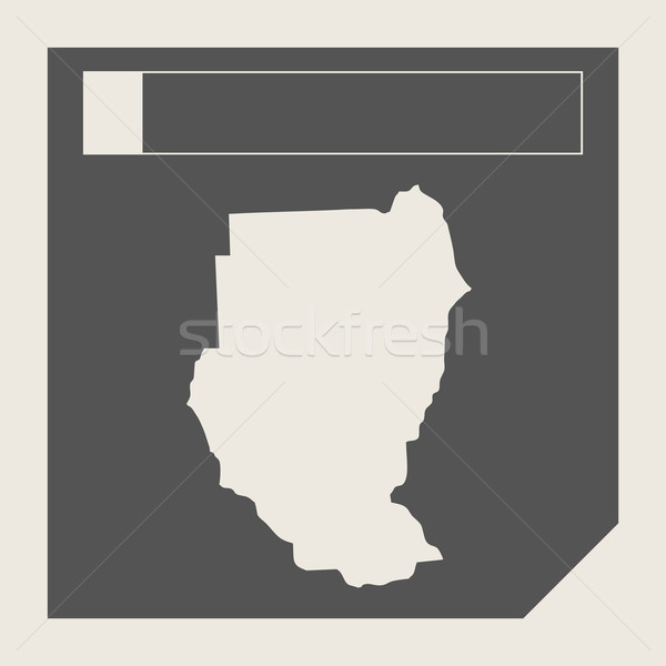 Soedan kaart knop sympathiek web design geïsoleerd Stockfoto © speedfighter