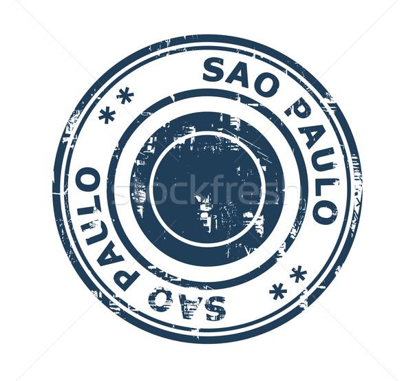 Város Sao Paulo bélyeg grunge Brazília izolált Stock fotó © speedfighter