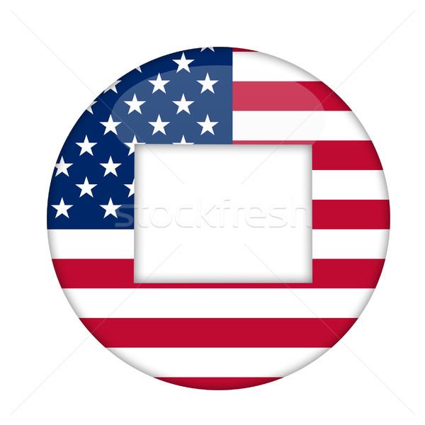 América placa aislado blanco negocios diseno Foto stock © speedfighter