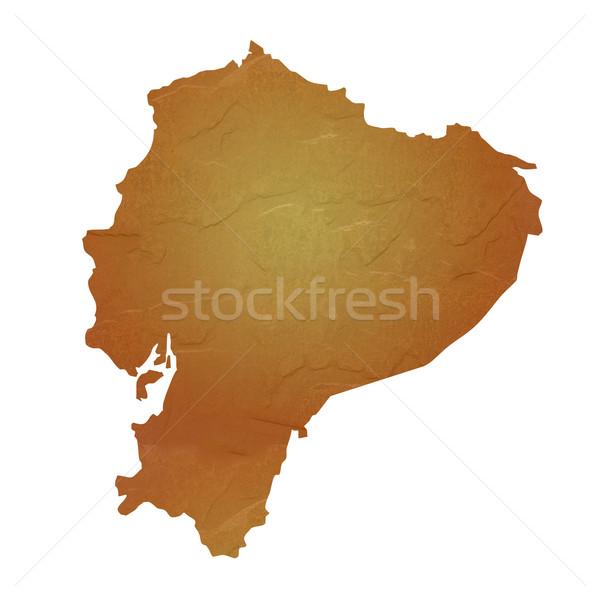 Textured map of Ecuador Stock photo © speedfighter