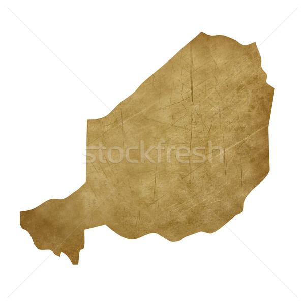 Нигер Гранж Карта сокровищ карта сокровище стиль Сток-фото © speedfighter