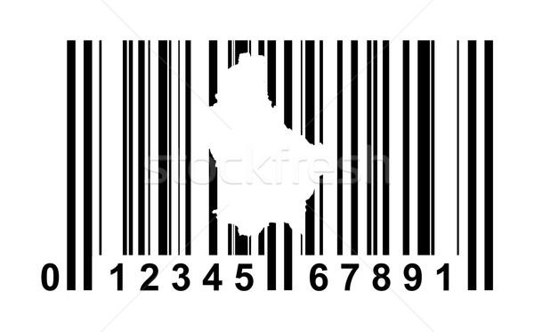 Luxemburg streepjescode winkelen geïsoleerd witte reizen Stockfoto © speedfighter
