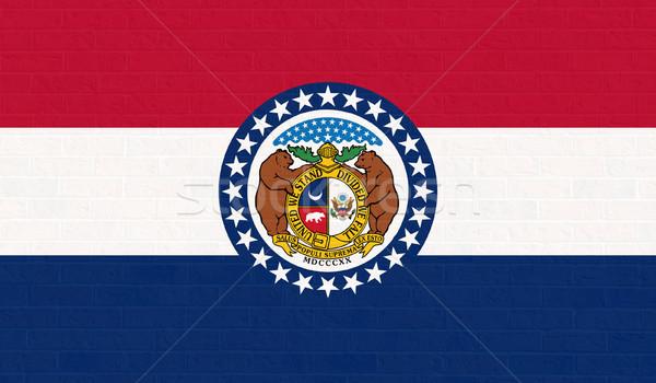 Missouri state flag on brick wall Stock photo © speedfighter