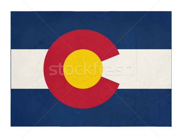Grunge Colorado bandeira mapa isolado branco Foto stock © speedfighter