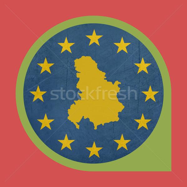 Europeo Unión Serbia Montenegro marcador botón Foto stock © speedfighter