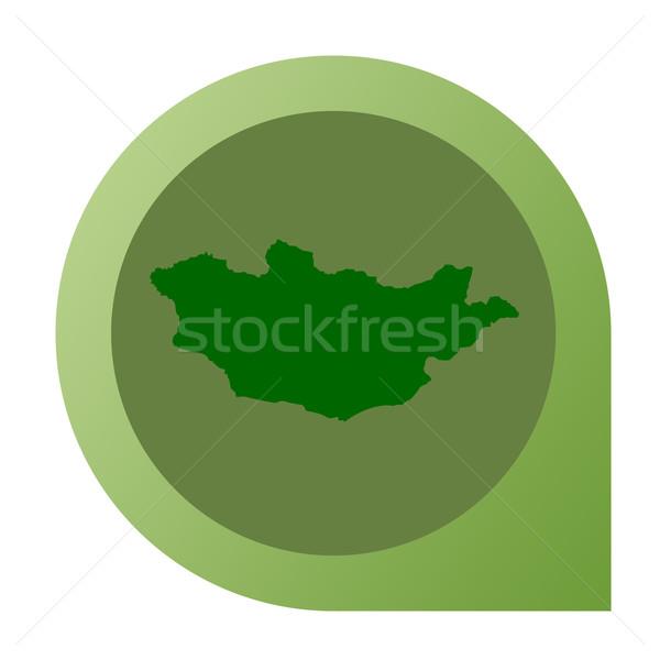 Isolated Mongolia map marker pin Stock photo © speedfighter