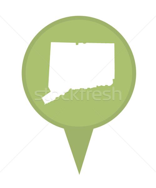 Connecticut mapa pin americano marcador isolado Foto stock © speedfighter