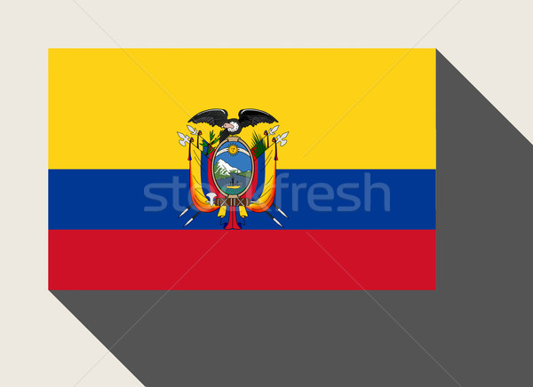 Ekvador bayrak web tasarım stil düğme Stok fotoğraf © speedfighter