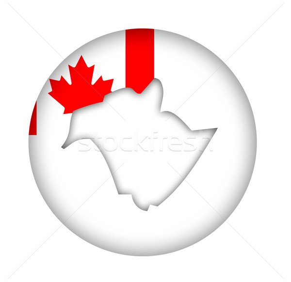 Canada New Brunswick state map flag button Stock photo © speedfighter