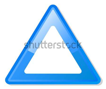 Blue warning triangle Stock photo © speedfighter