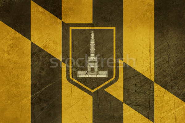 Grunge Baltimore city flag Stock photo © speedfighter