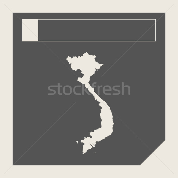 Viêt-Nam carte bouton sensible web design isolé Photo stock © speedfighter