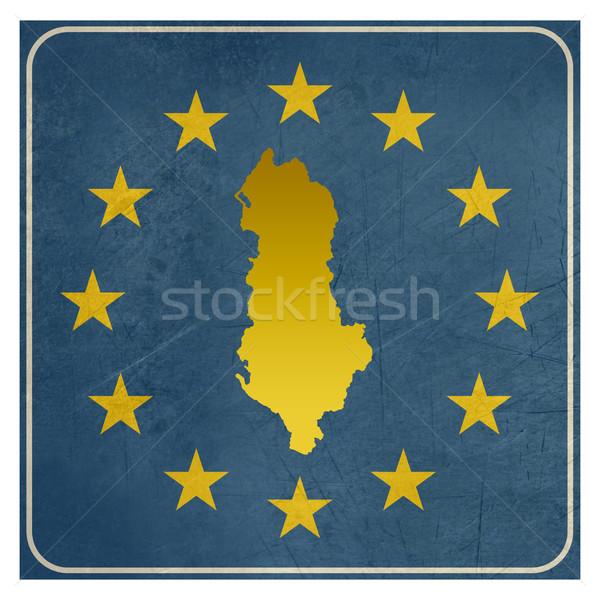 Albanian European button Stock photo © speedfighter